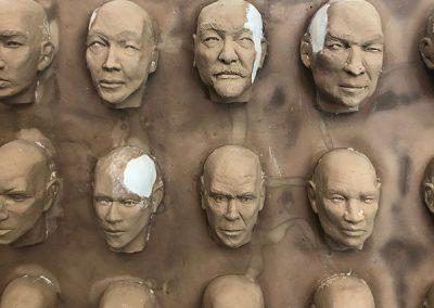 100 Faces II - process 16