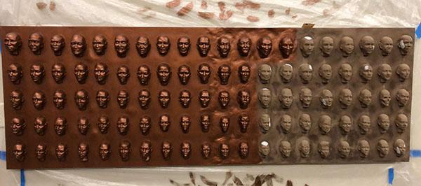 100 Faces II - process 19
