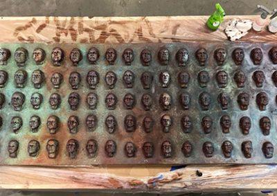 100 Faces II - process 25