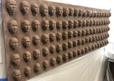 100 Faces II - process 15