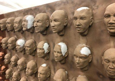 100 Faces II - process 17