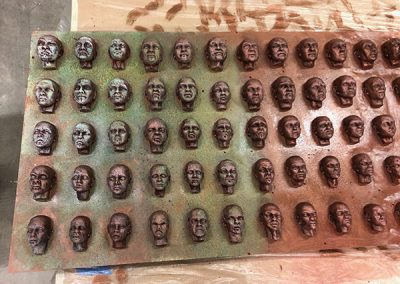 100 Faces II - process 23