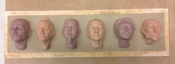 Casting Faces - process 03