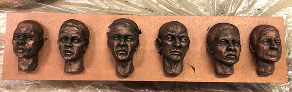 Casting Faces - process 12
