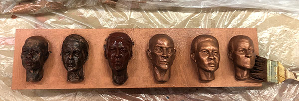 Casting Faces - process 13