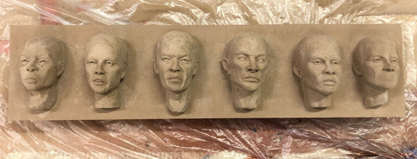 Casting Faces - process 14